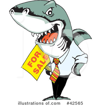 Shark Clipart #42565 by Dennis Holmes Designs