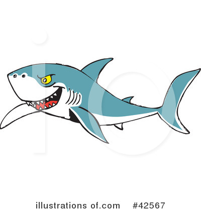 Shark Clipart #42567 by Dennis Holmes Designs
