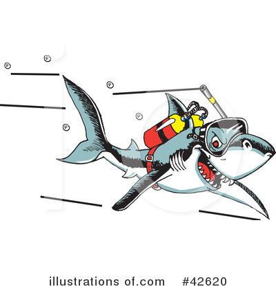 Shark Clipart #42620 by Dennis Holmes Designs