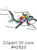 Royalty-Free (RF) shark Clipart Illustration #42620