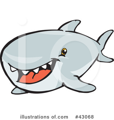 Shark Clipart #43068 by Dennis Holmes Designs