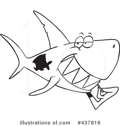 Shark Clipart #437816 by toonaday