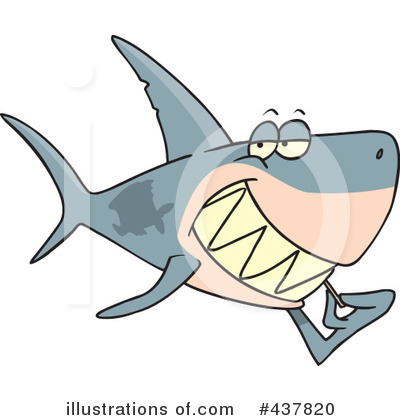 Shark Clipart #437820 by toonaday