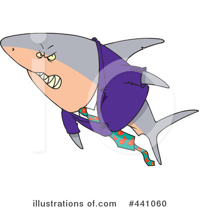 Shark Clipart #441060 by toonaday
