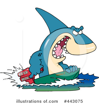 Shark Clipart #443075 by toonaday