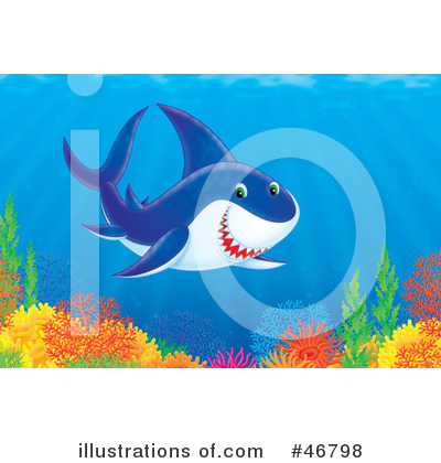 Shark Clipart #46798 by Alex Bannykh