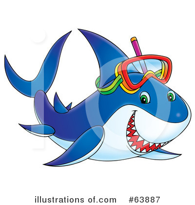 Shark Clipart #63887 by Alex Bannykh