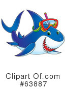 Royalty-Free (RF) Shark Clipart Illustration #63887