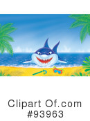 Royalty-Free (RF) Shark Clipart Illustration #93963