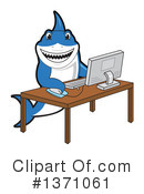 Shark Mascot Clipart #1371061 by Toons4Biz