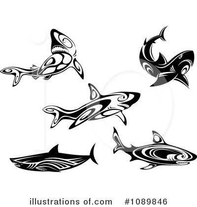 Shark Clipart #1089846 by Vector Tradition SM