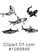 Sharks Clipart #1089846 by Vector Tradition SM