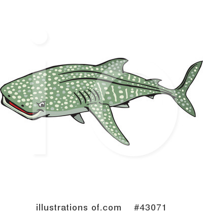 Shark Clipart #43071 by Dennis Holmes Designs