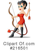 Royalty-Free (RF) She Devil Clipart Illustration #216501