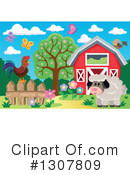 Royalty-Free (RF) Sheep Clipart Illustration #1307809