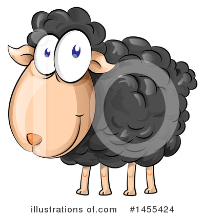 Sheep Clipart #1455424 by Domenico Condello