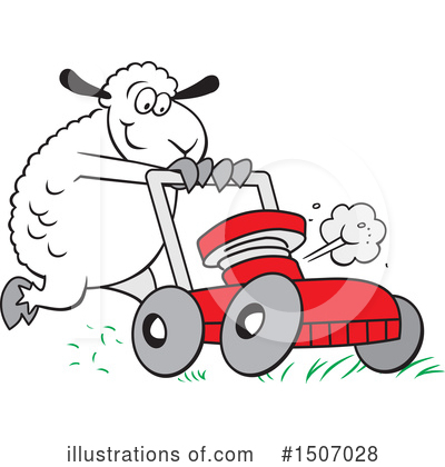 Lawn Mower Clipart #1507028 by Johnny Sajem