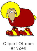 Royalty-Free (RF) Sheep Clipart Illustration #19240