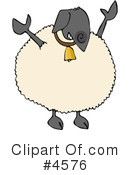 Royalty-Free (RF) Sheep Clipart Illustration #4576