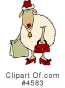 Royalty-Free (RF) Sheep Clipart Illustration #4583