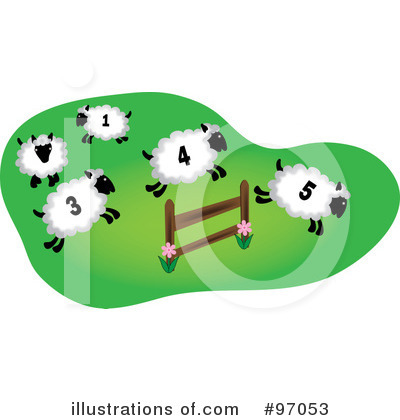 Royalty-Free (RF) Sheep Clipart Illustration by Pams Clipart - Stock Sample #97053