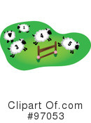 Royalty-Free (RF) Sheep Clipart Illustration #97053