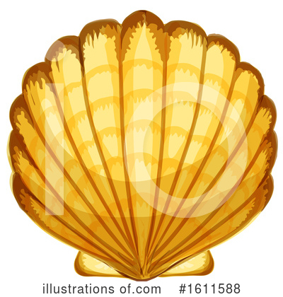 Seashell Clipart #1611588 by Vector Tradition SM