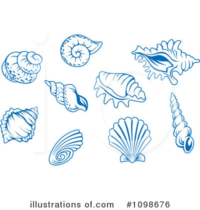 Scallop Clipart #1098676 by Vector Tradition SM