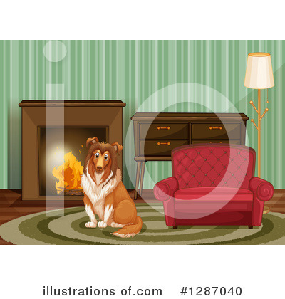 Fireplace Clipart #1287040 by Graphics RF