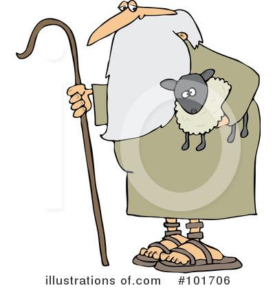 Shepherd Clipart #101706 - Illustration by Dennis Cox