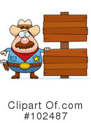 Royalty-Free (RF) Sheriff Clipart Illustration #102487