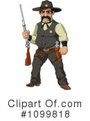 Royalty-Free (RF) Sheriff Clipart Illustration #1099818