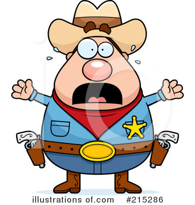 Royalty-Free (RF) Sheriff Clipart Illustration by Cory Thoman - Stock Sample #215286