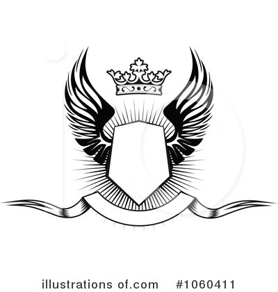 Winged Shield Clipart #1060411 by Vector Tradition SM