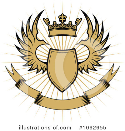 Winged Shield Clipart #1062655 by Vector Tradition SM