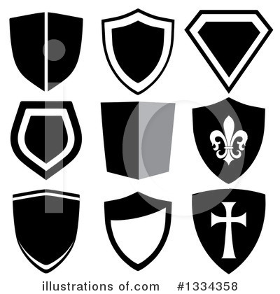 Royalty-Free (RF) Shield Clipart Illustration by michaeltravers - Stock Sample #1334358