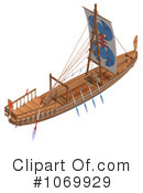 Royalty-Free (RF) ship Clipart Illustration #1069929