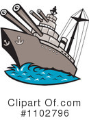 Royalty-Free (RF) Ship Clipart Illustration #1102796
