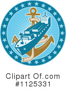 Royalty-Free (RF) Ship Clipart Illustration #1125331
