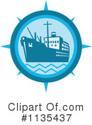 Royalty-Free (RF) Ship Clipart Illustration #1135437