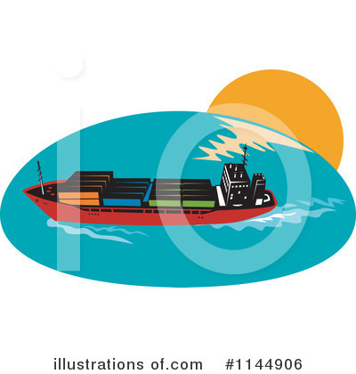 Shipping Clipart #1144906 by patrimonio