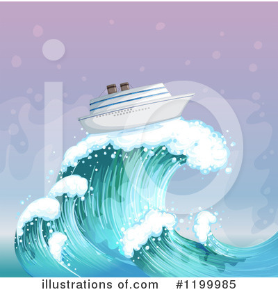 Waves Clipart #1199985 by Graphics RF
