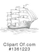 Ship Clipart #1361223 by Vector Tradition SM