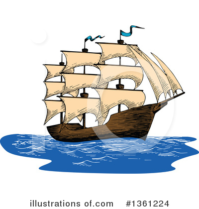 Ship Clipart #1361224 by Vector Tradition SM