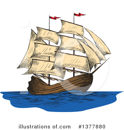 Ship Clipart #1377880 by Vector Tradition SM