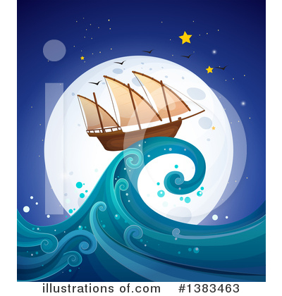 Waves Clipart #1383463 by Graphics RF