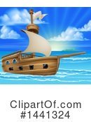 Ship Clipart #1441324 by AtStockIllustration