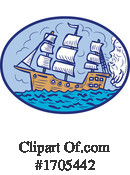 Ship Clipart #1705442 by patrimonio