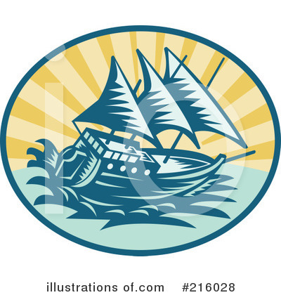 Royalty-Free (RF) Ship Clipart Illustration by patrimonio - Stock Sample #216028