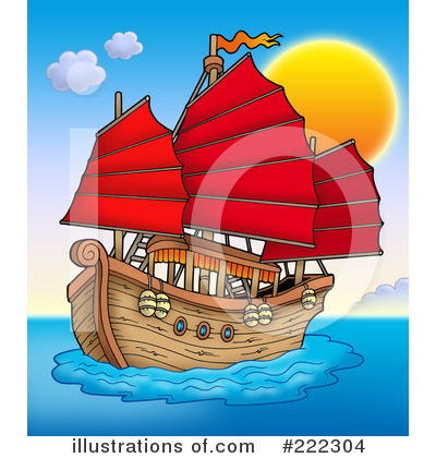 Royalty-Free (RF) Ship Clipart Illustration by visekart - Stock Sample #222304
